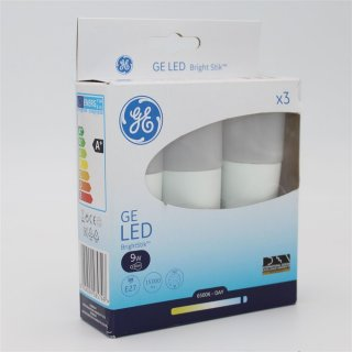 GE Bright Stik LED Röhrenform 9W (60W) E27 865 240° NODIM matt