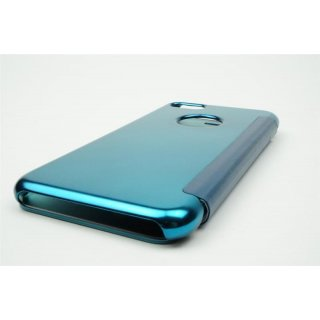 Iphone 7 Plus / 5.5 LED View Flip  Case Tasche Blau Cover Schutzhülle