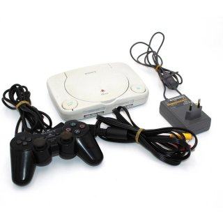 Sony Playstation PS One SCPH-102 Video Game Konsole 3 Spiele gebraucht