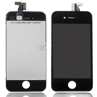 Konzone Kompatibel mit Iphone 4 LCD Display mit Touchscreen Digitizer Frontscheibe Schwarz A++Version
