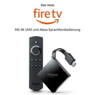 Amazon Fire TV 3 4K HDR Alexa Premium Paket kodi 18.4 + Vavoo XXL SKY GO TICKET